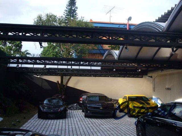 Cobertura Policarbonato Alveolar Fosco - Garagem 2